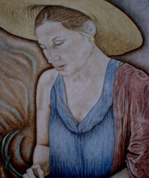 Basket Weaver - 16 x 20 - $285.
