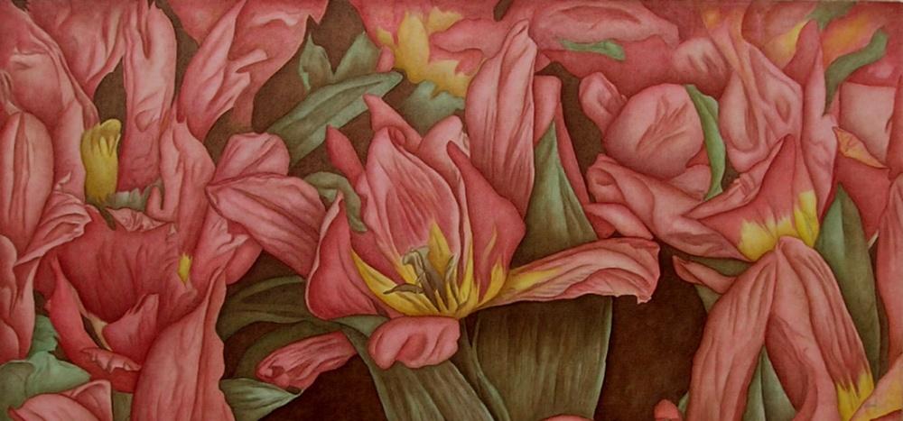 Tulip Rhapsody - 26 x 46 - $625.
