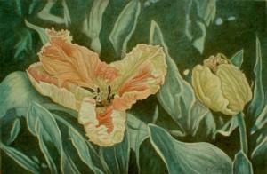 Floral Peace - 9 x 14 - $25.